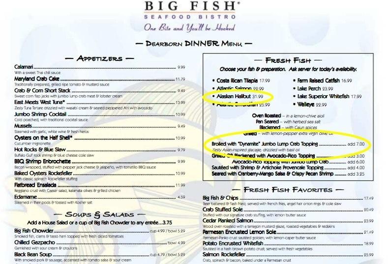 Big fish dearborn mi for Big fish dearborn