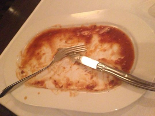 It appears that I liked my entree!