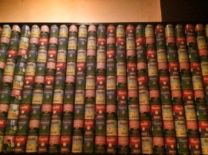 The wall behind our table...Campbell's soup artwork.